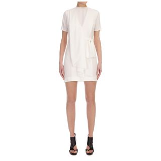 McQ, Dress, Tailored Front Ruffle Dress