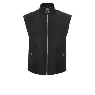 McQ, Jacket, Jet Black Sleeveless Bomber