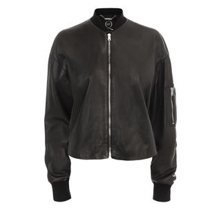 McQ, Jacket, Cropped Leather Bomber