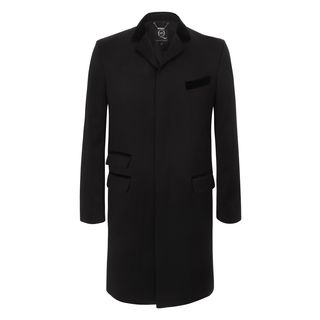 McQ, Coat, Jet Black Lux Aspect Oversized Coat