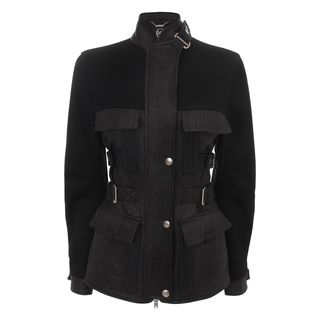 McQ, Jacket, Jet Black Raffia Lux Sport Jacket