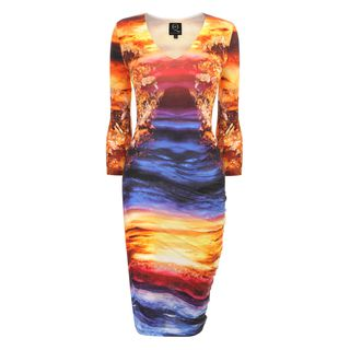 McQ, Dress, Mineral Print S-Bend Dress