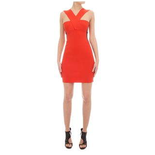 McQ, Dress, Contrast Bandage Knit Mini-Dress