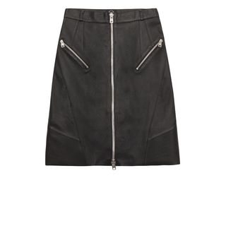McQ, Skirt, Leather Zip Pencil Skirt