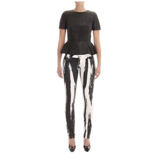 McQ, Top, Leather Peplum Top
