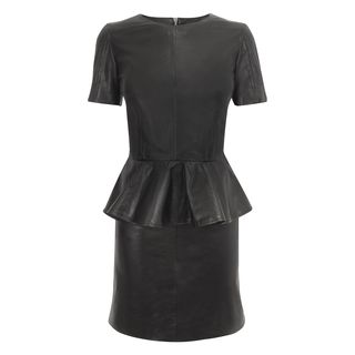 McQ, Dress, Leather Peplum Mini-Dress