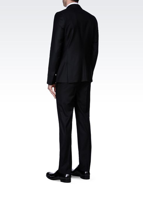 PINSTRIPE SUIT IN VIRGIN WOOL : One button suits Men by Armani - 3