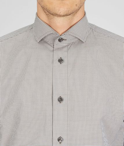 BOTTEGA VENETA - Micro Grid Cotton Dress Shirt