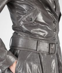BOTTEGA VENETA - Coats and Jackets, Ardoise Creased Shiny Lambskin Jacket