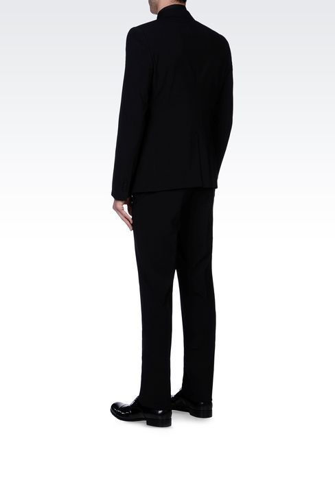 TWO-BUTTON SUIT IN STRETCH WOOL: Two buttons suits Men by Armani - 3