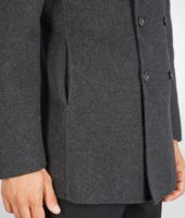 JACKET IN DARK MATITA DOUBLE CASHMERE