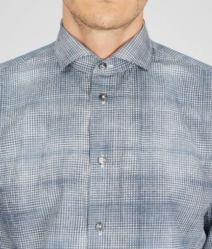 BOTTEGA VENETA - Multi Grid Cotton Dress Shirt