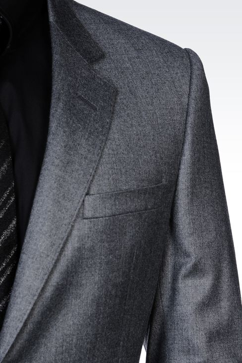 TWO-BUTTON SUIT IN STRETCH WOOL: Two buttons suits Men by Armani - 4