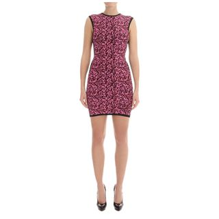 McQ, Dress, Camouflage Puff Print Knit Mini-Dress