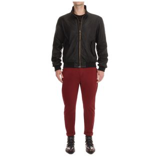 McQ, Jacket, Harrington Leather Jacket