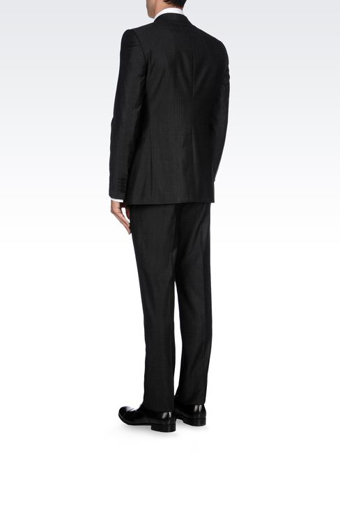TWO-BUTTON SUIT IN VIRGIN WOOL: Two buttons suits Men by Armani - 3