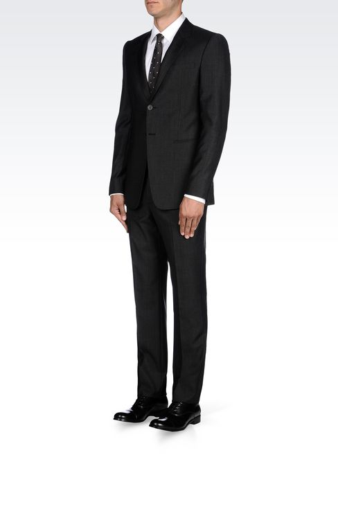 TWO-BUTTON SUIT IN VIRGIN WOOL: Two buttons suits Men by Armani - 2