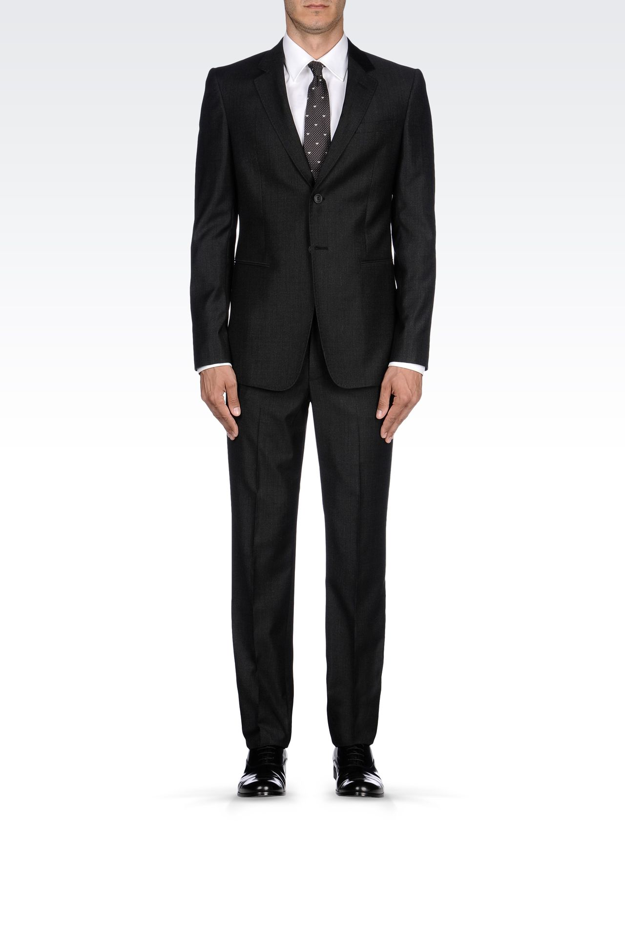 TWO-BUTTON SUIT IN VIRGIN WOOL: Two buttons suits Men by Armani - 0