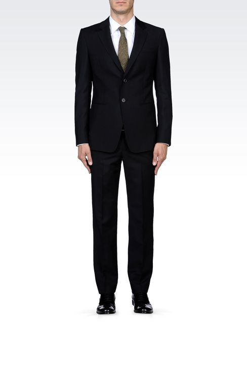 TWO-BUTTON SUIT IN MOHAIR WOOL: Two buttons suits Men by Armani - 1
