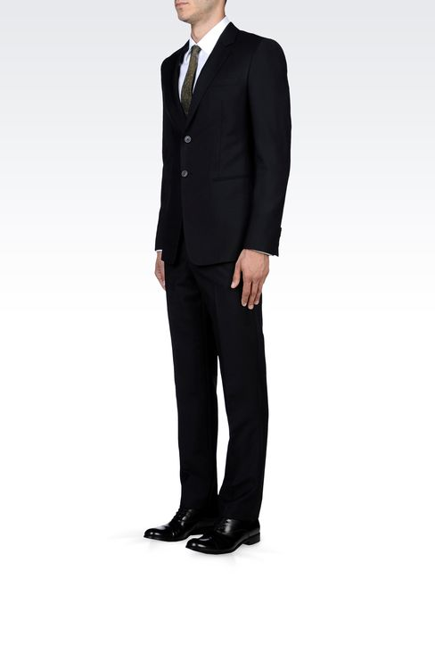 TWO-BUTTON SUIT IN MOHAIR WOOL: Two buttons suits Men by Armani - 2