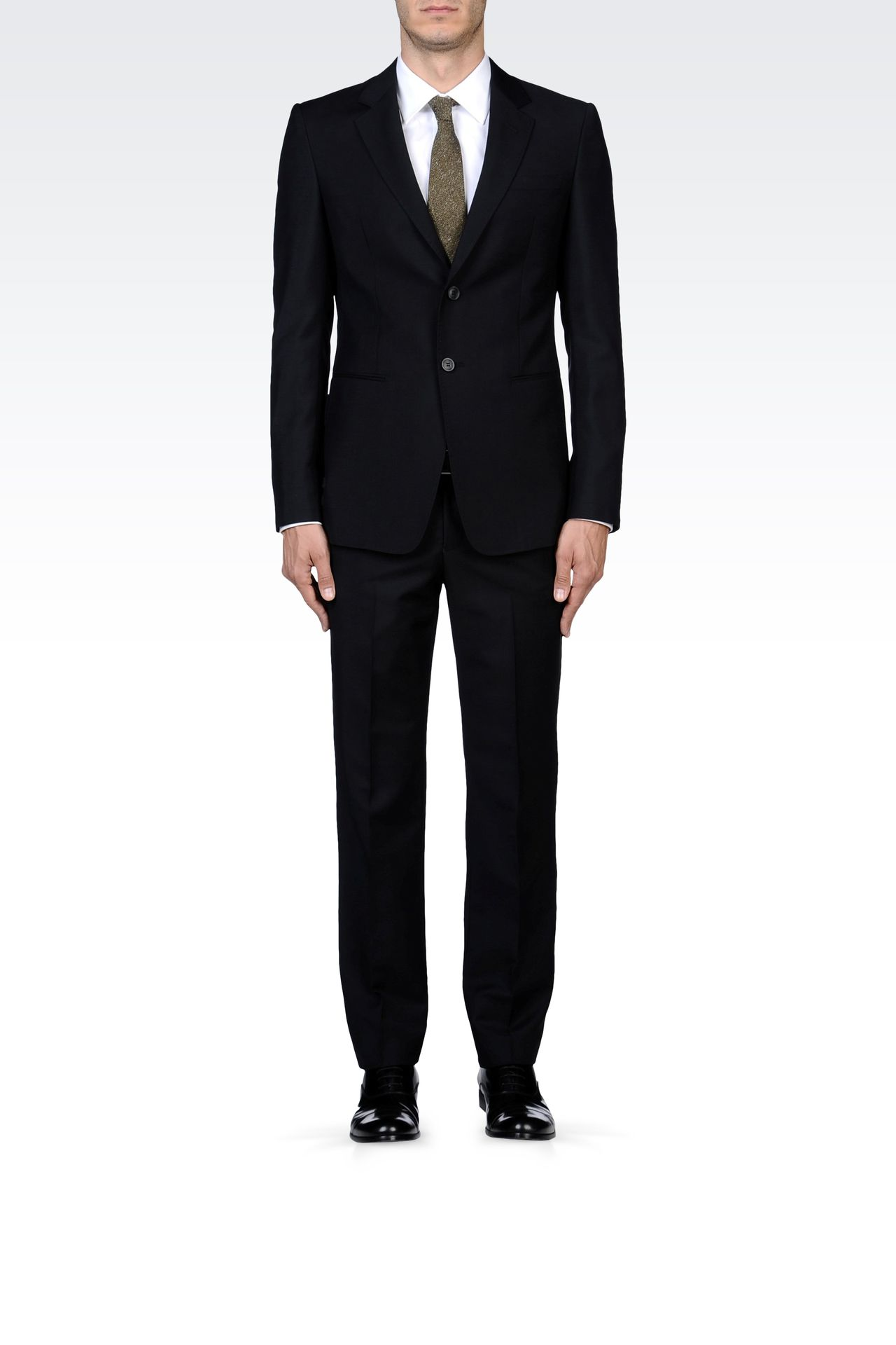 TWO-BUTTON SUIT IN MOHAIR WOOL: Two buttons suits Men by Armani - 0