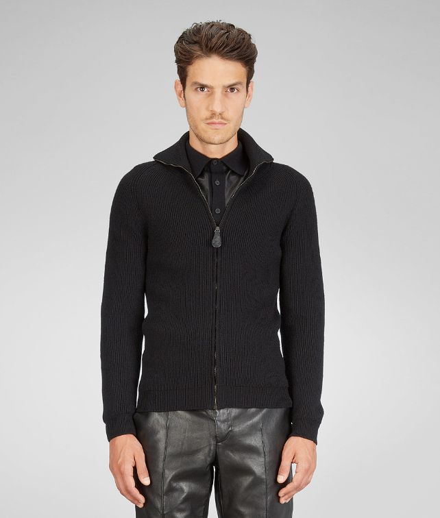 Nero Merinos Wool Washed Fine Nappa Cardigan