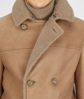 Bronze Felted Fur Shearling Caban