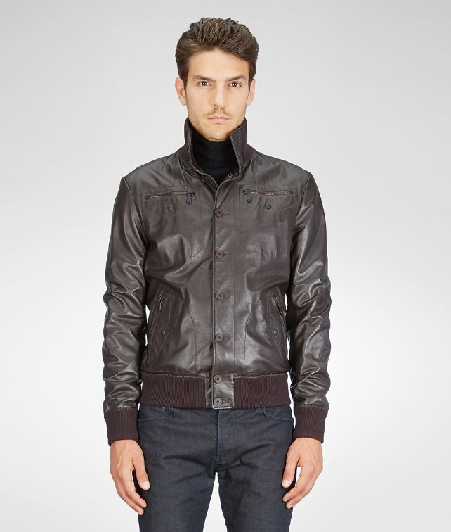 BLOUSON IN ESPRESSO LAMB LEATHER