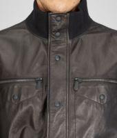 Nero Shiny Lambskin Parka Jacket