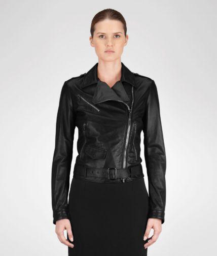 Nero Shiny Lambskin Jacket