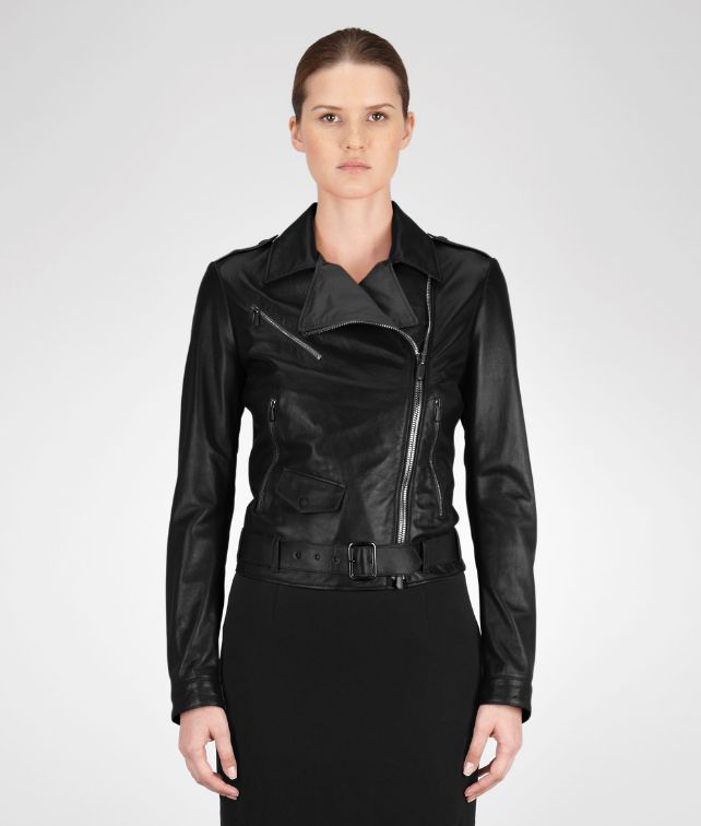 JACKET IN NERO LAMBLEATHER