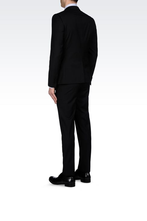 MICRO-PINSTRIPE SUIT IN VIRGIN WOOL: One button suits Men by Armani - 3