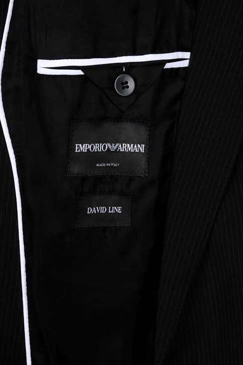 MICRO-PINSTRIPE SUIT IN VIRGIN WOOL: One button suits Men by Armani - 4