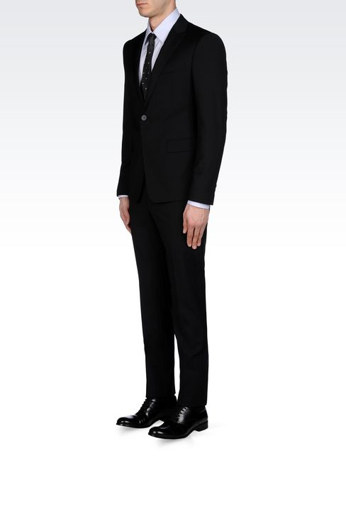MICRO-PINSTRIPE SUIT IN VIRGIN WOOL: One button suits Men by Armani - 2