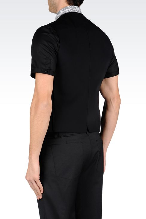FULL-ZIP CREW-NECK GILET IN NEOPRENE: Gilets Men by Armani - 3