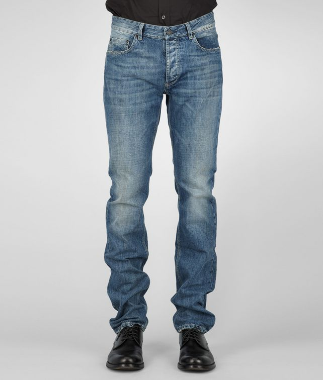 BOTTEGA VENETA JEANS AUS DISTROYED ROW INDIGO IN DARK NAVY Hose & Jeans U fp
