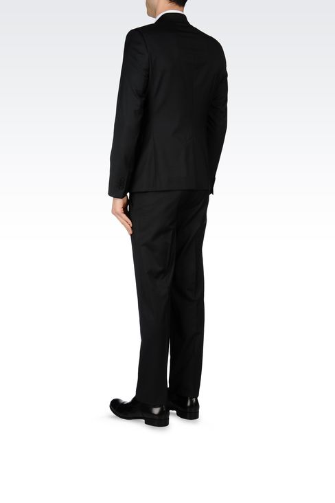 SLIM-FIT SUIT IN MICRO-PINSTRIPE WOOL: Two buttons suits Men by Armani - 3