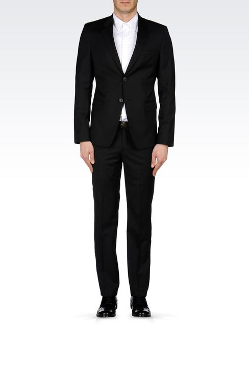 SLIM-FIT SUIT IN MICRO-PINSTRIPE WOOL: Two buttons suits Men by Armani - 1