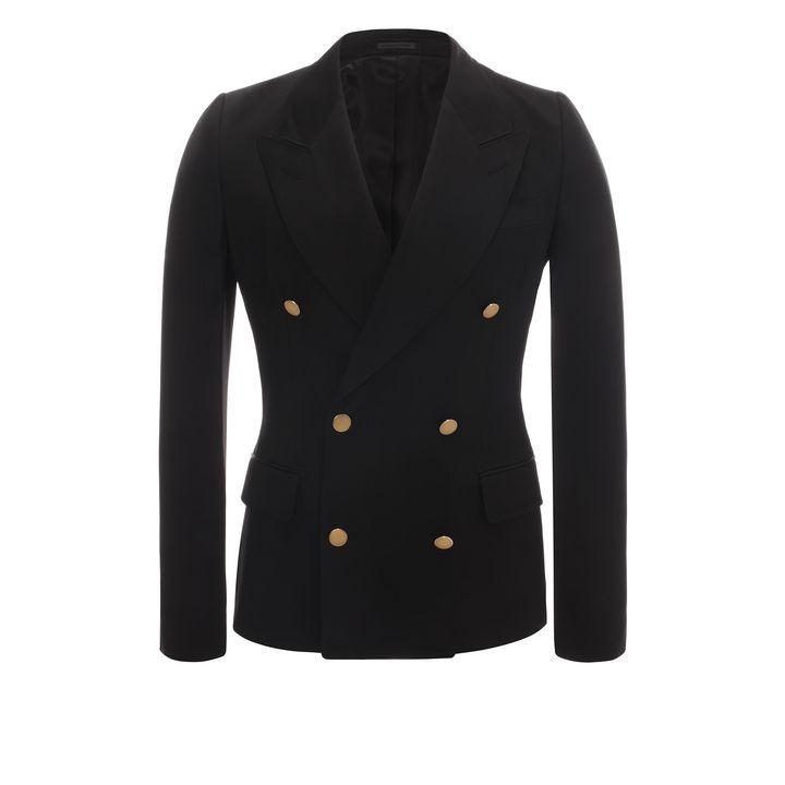 Alexander McQueen, Cotton Double Breasted Deconstructed Jacket