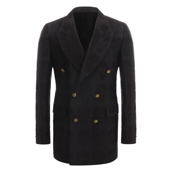 Alexander McQueen, Vein Skull Jacquard Deconstructed Jacket
