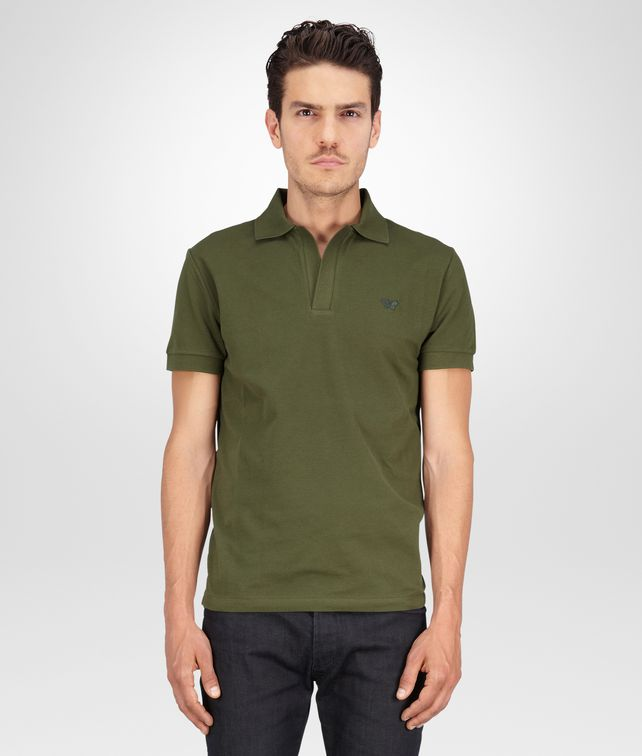 BOTTEGA VENETA Sergeant Solid Piquet Polo Polo And Tee U fp