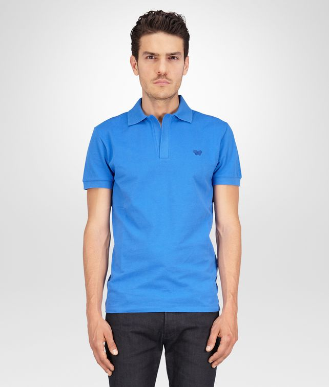 Signal Blue Solid Piquet Polo