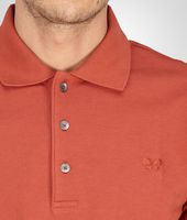 Burnt Red Solid Piquet Polo