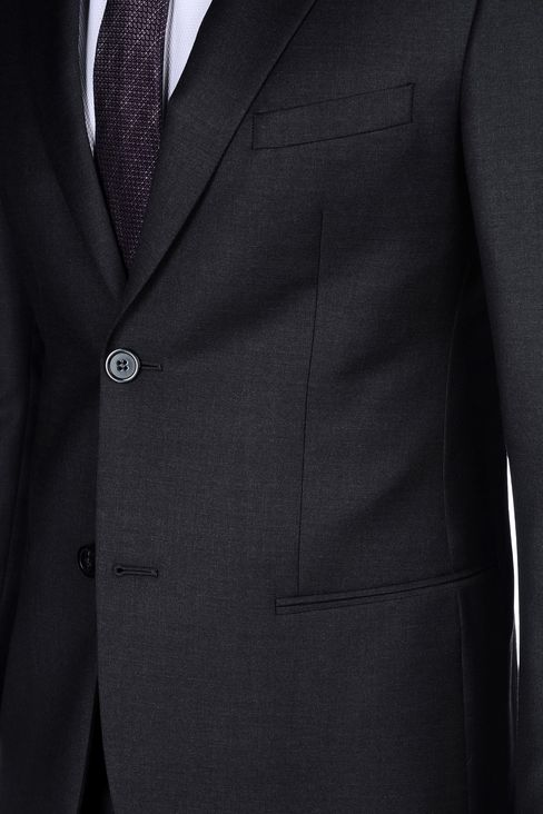 SINGLE-BREASTED SUIT IN WORSTED WOOL: Two buttons suits Men by Armani - 5
