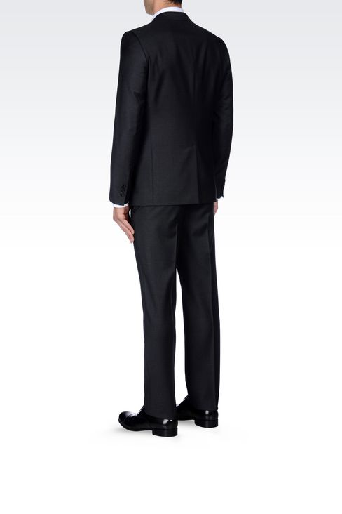 SINGLE-BREASTED SUIT IN WORSTED WOOL: Two buttons suits Men by Armani - 4