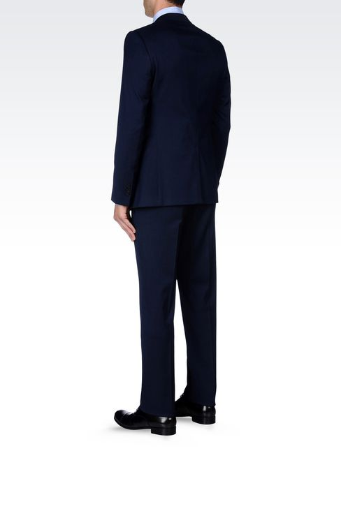 SINGLE-BREASTED SUIT IN IRIDESCENT WOOL: Two buttons suits Men by Armani - 4