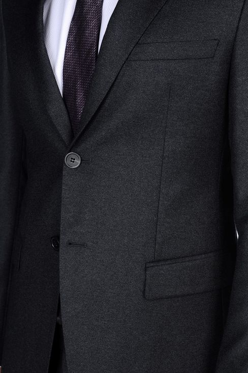 SINGLE-BREASTED SUIT IN VIRGIN WOOL: Two buttons suits Men by Armani - 5