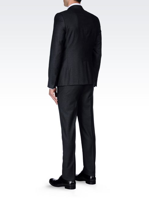 SINGLE-BREASTED SUIT IN VIRGIN WOOL: Two buttons suits Men by Armani - 4
