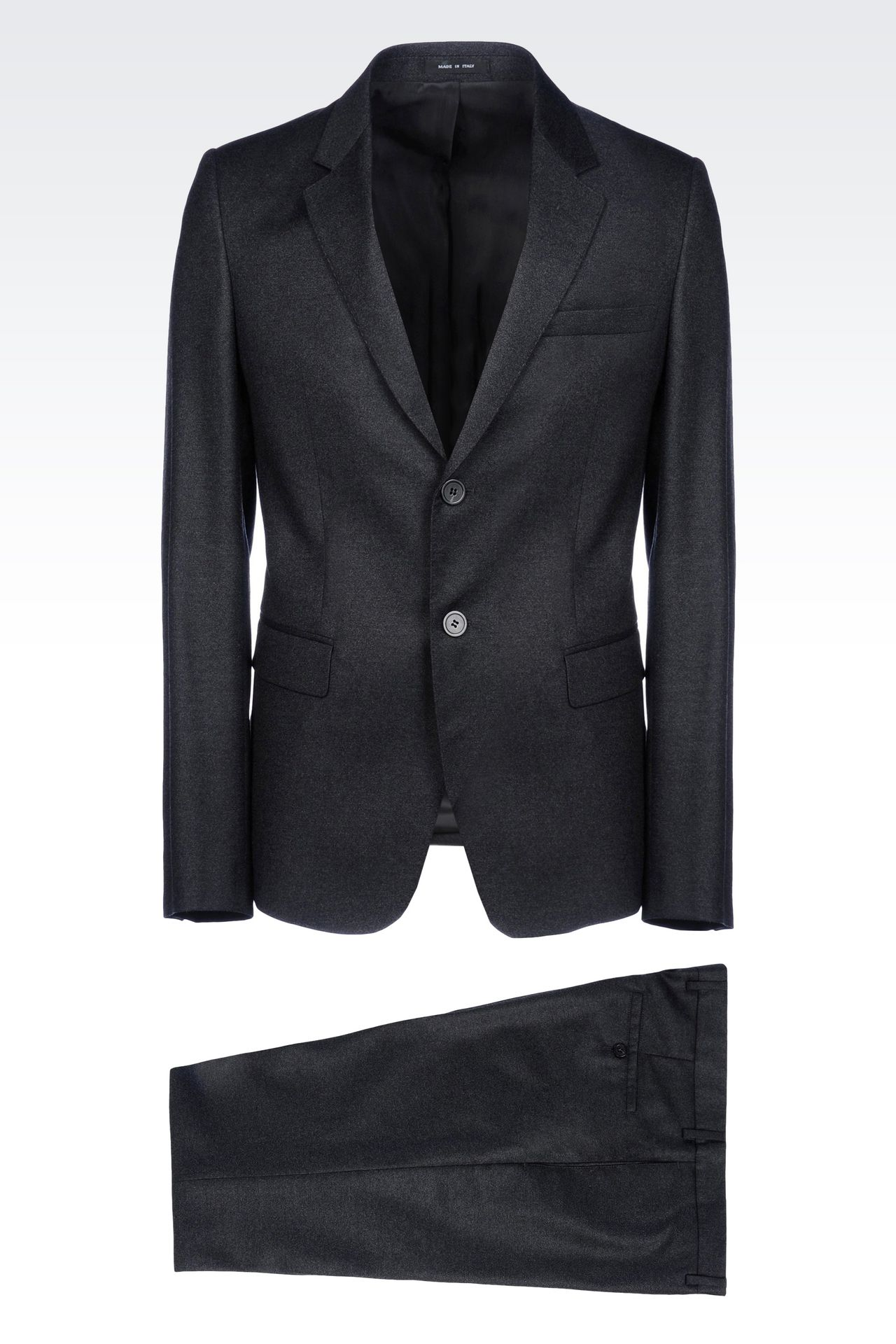 SINGLE-BREASTED SUIT IN VIRGIN WOOL: Two buttons suits Men by Armani - 0