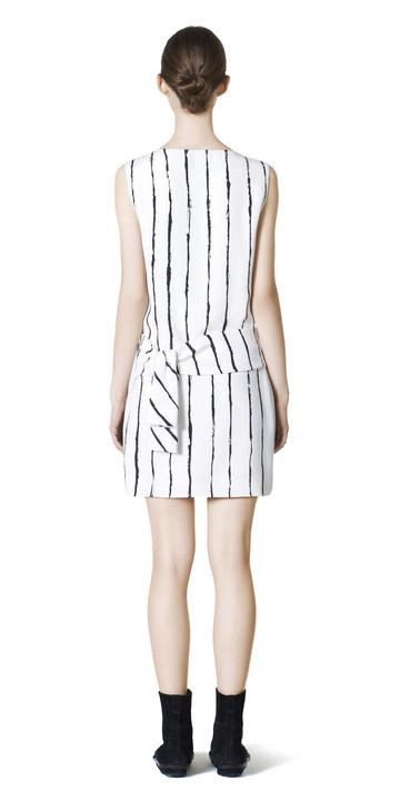 Balenciaga Vestido Drapeado de Rayas Edition